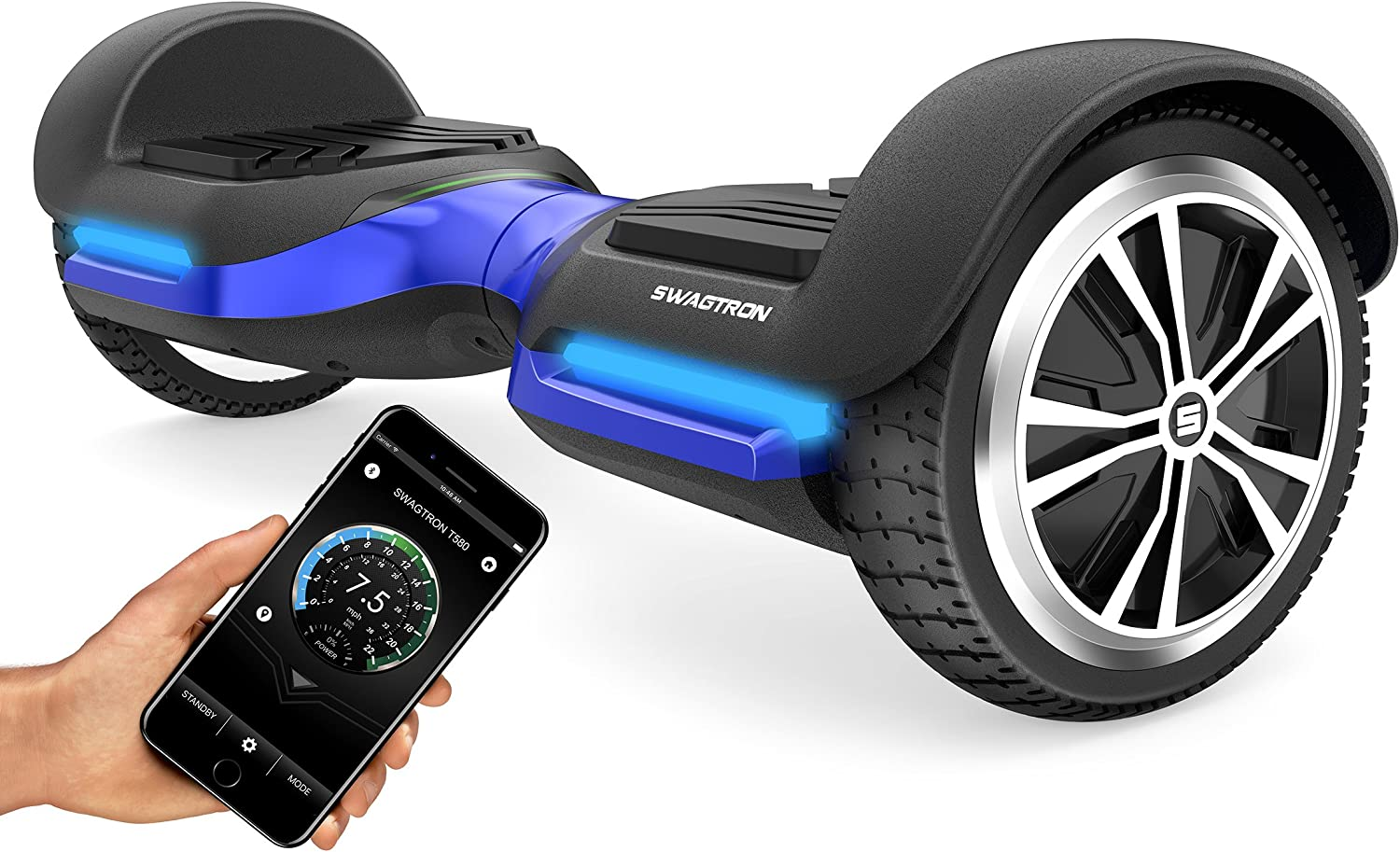 Swagtron T580 App-Enabled Bluetooth Hoverboard
