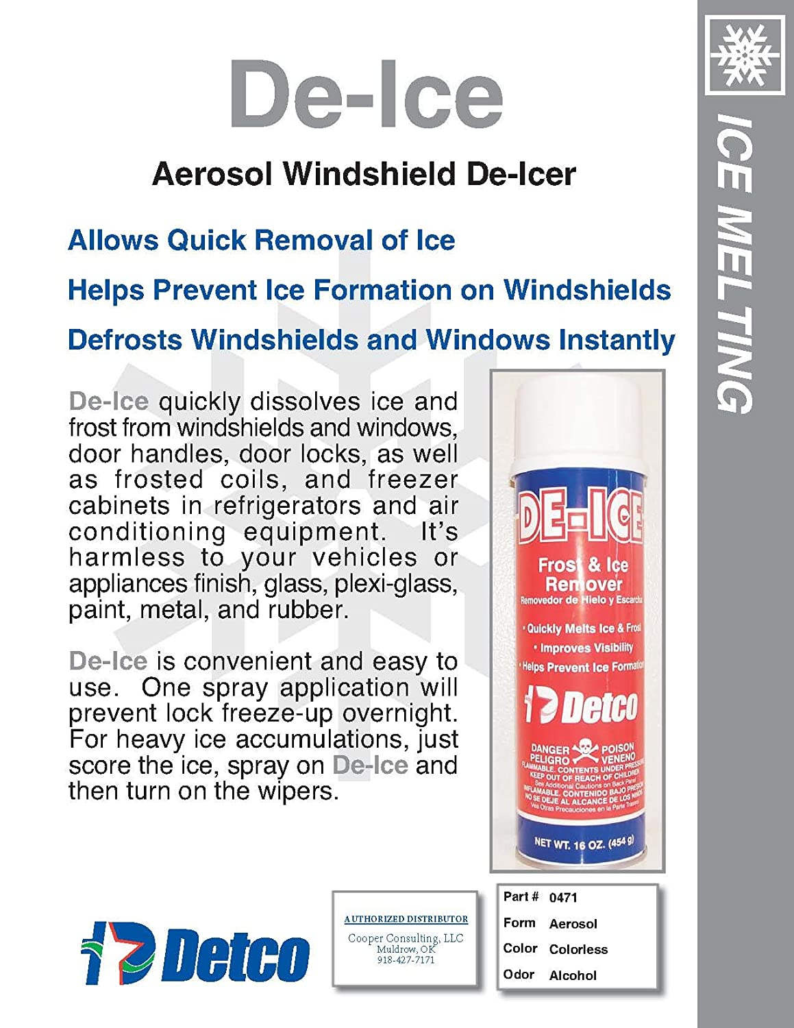 Descongela – Escarcha y el hielo Remover – 16 oz Aerosol Can ...