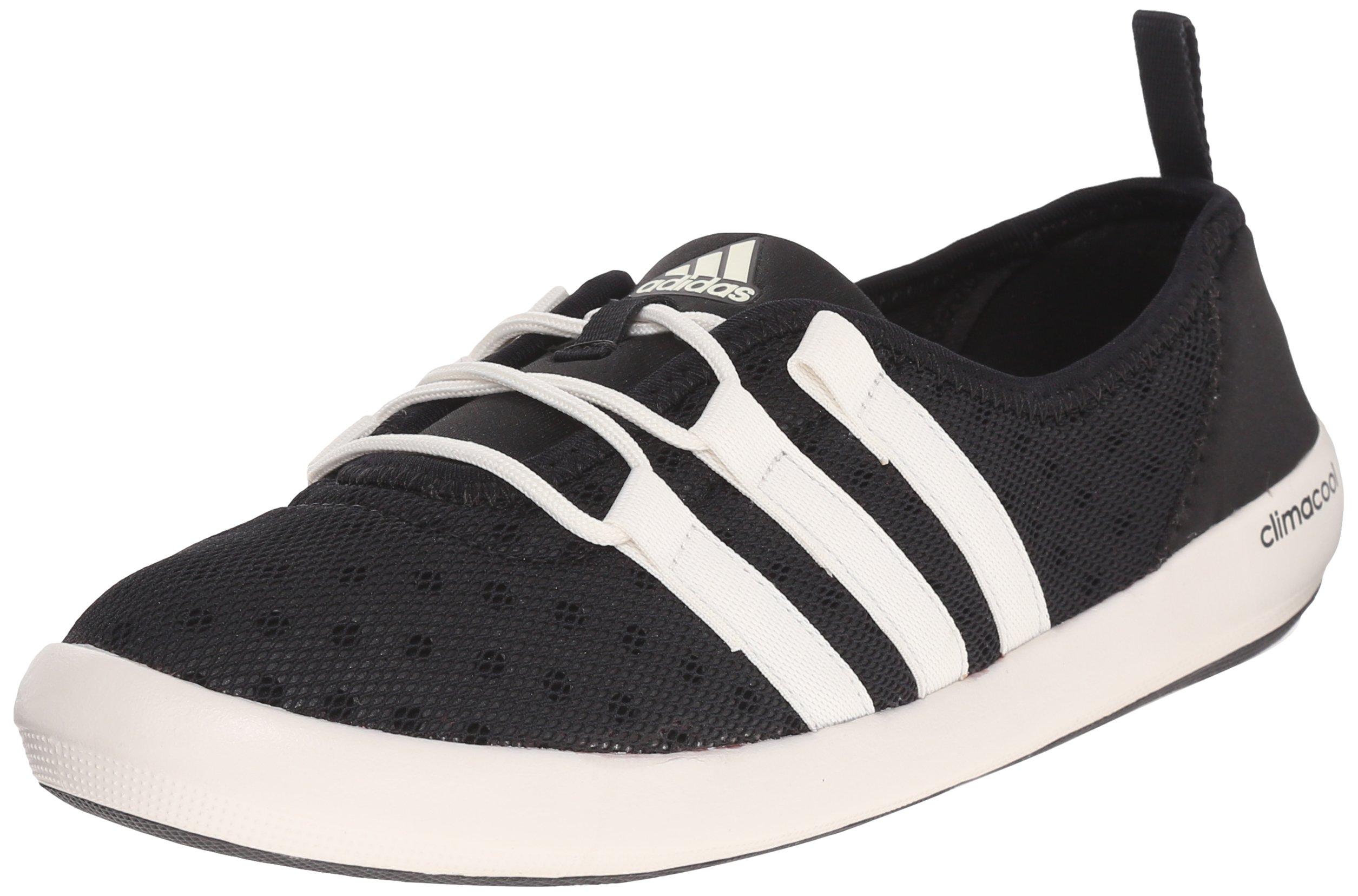 adidas outdoor Women's Climacool Boat Sleek Water Shoe, Black/chalk White/Black, 11 M US