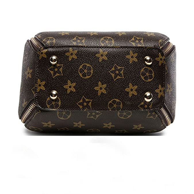 67a9cdb83 SUNNY Famous Womens Monogram Canvas Flap Handbags Double-used Chain Bags  Tote Bag (apricot): Handbags: Amazon.com