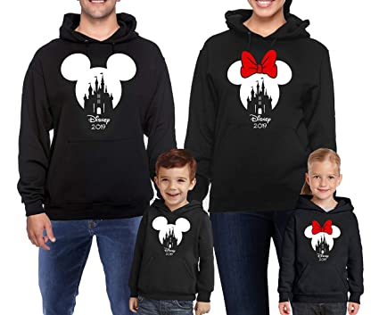 3bae2844080 Disney Christmas Castle Snowflakes Family Hoodies 2019 Xmas Gifts  Disneyland Trip Disney Minnie Mickey Mouse Hooded