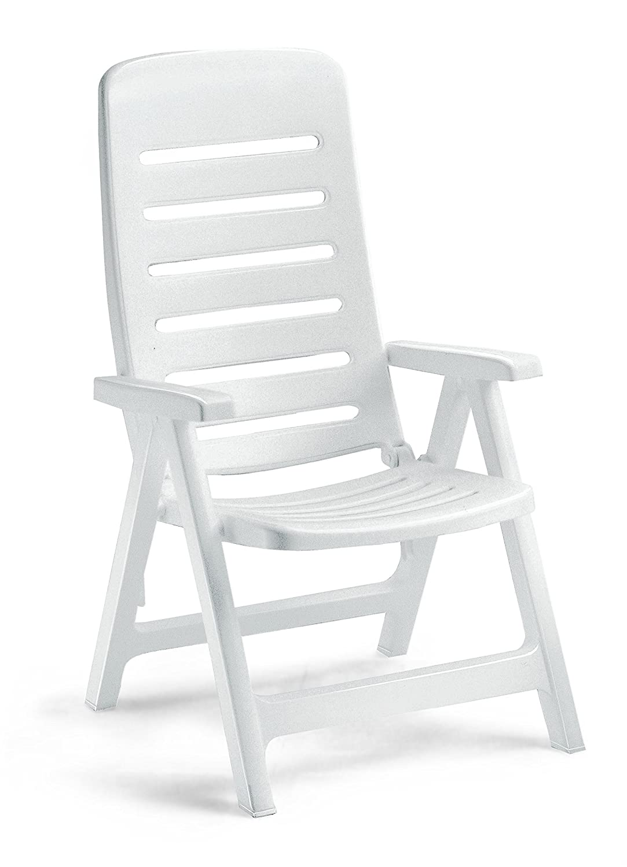 Sillón de resina blanco, sillones plegables de exterior ...