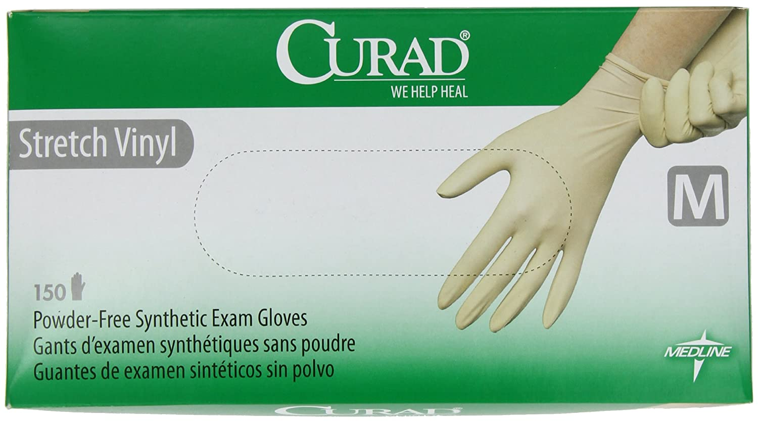 Curad Stretch Vinyl, Small, 150 Count 6CUR9224