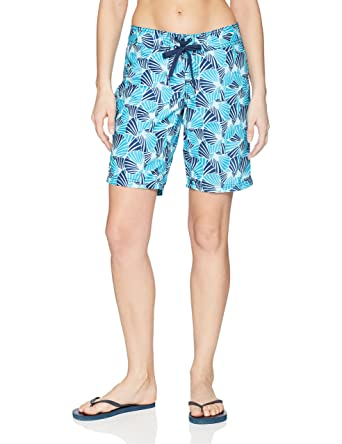 b1ae36520f Kanu Surf Women's Audrey UPF 50+ Active Printed Swim and Workout Board  Short, Aqua