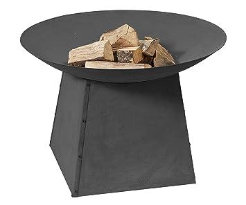 Brasero - Ø80 en un soporte - Estufa Chimenea de acero con acabado en negro resistente al calor: Amazon.es: Jardín