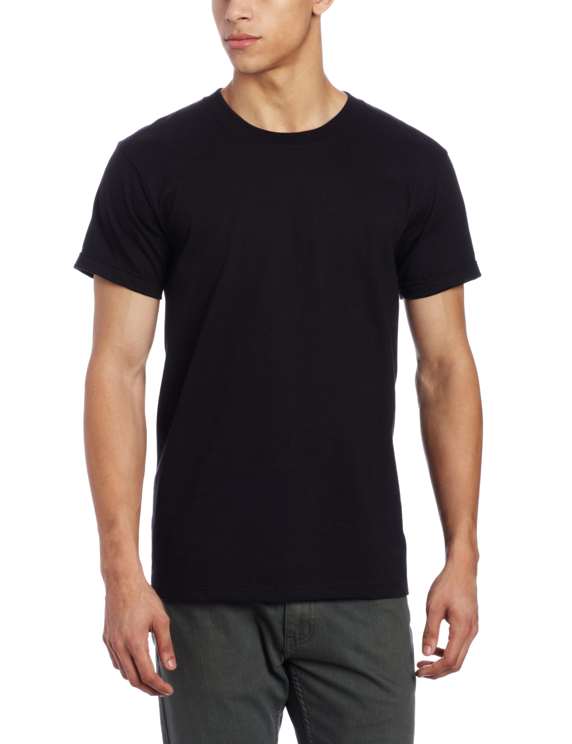 Naked & Famous Denim Men's T-Shirt, Black Ringspun Cotton, Large