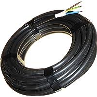 15 meter 2,5 mm 3 kärnor CYKY-J kabel 450/750 V svart tuff tålig tålig - idealisk utomhus trädgård eluttag brytare…
