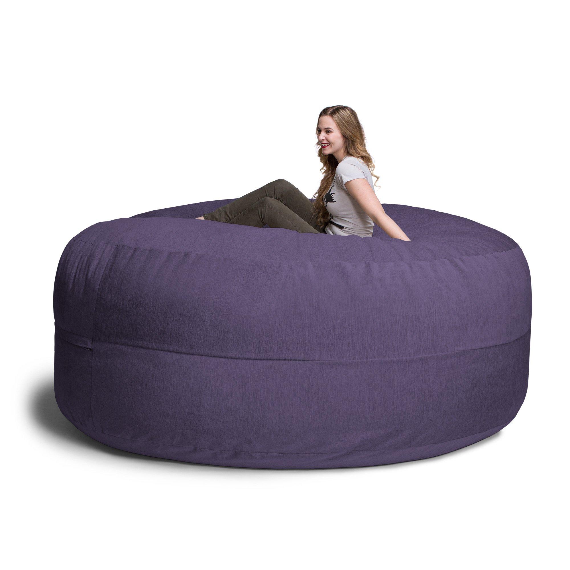 Jaxx Cocoon 8 Foot Huge Sleeper Bean Bag Bed - Chenille, Plum by Jaxx (Image #10)