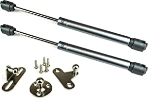 Berta 100N/22LB Hydraulic Soft Open Gas Springs, Gas Strut for Cabinets, Cabinet Doors Lift Support, Gas Shocks, Lid Stay, Lid Support with Brackets and Installation Screws (4 Pieces)