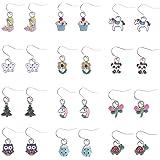 9/24/30/45 Pairs Cute Girls Stainless Steel Stud Earring Sets, Unicorn earrings for Kids, Colorful Multiple Stud Earrings
