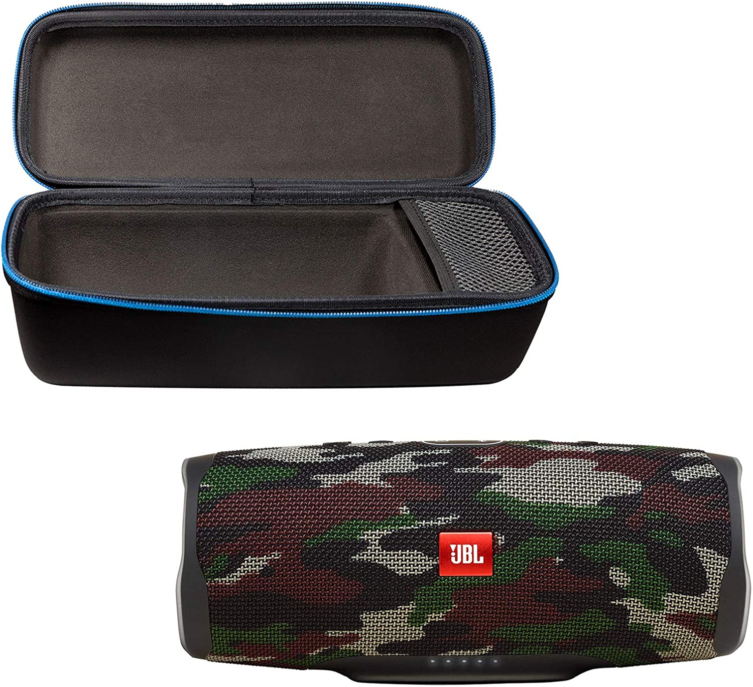 Black JBL Charge 4 Portable Waterproof Wireless Bluetooth Speaker Bundle with divvi Charge 4 Protective Hardshell Case