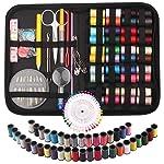 Mini kits de costura, 136 piezas, kit de herramientas de costura manual para el hogar, viajes, camping y uso de...