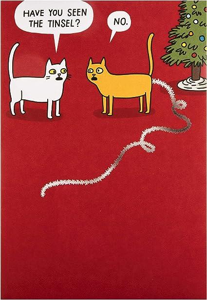 S Neige Pour Chat Carte de Noël Drôle il