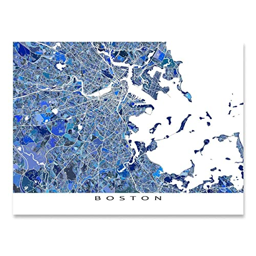 photo about Printable Map of Massachusetts known as : Boston Map Print, Machusetts United states, MA Metropolis