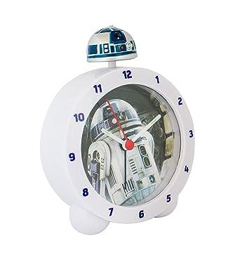 Zeon 10645 - Reloj despertador, replica R2D2 de Star Wars, con luz y sonido Sobremesa, 0.25 cm: Amazon.es: Relojes