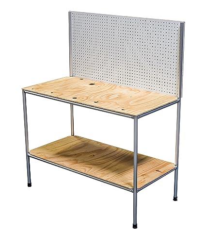 Outstanding Quadconnect Modular Aluminum Workbench Kit 24 X 48 X 60 Machost Co Dining Chair Design Ideas Machostcouk