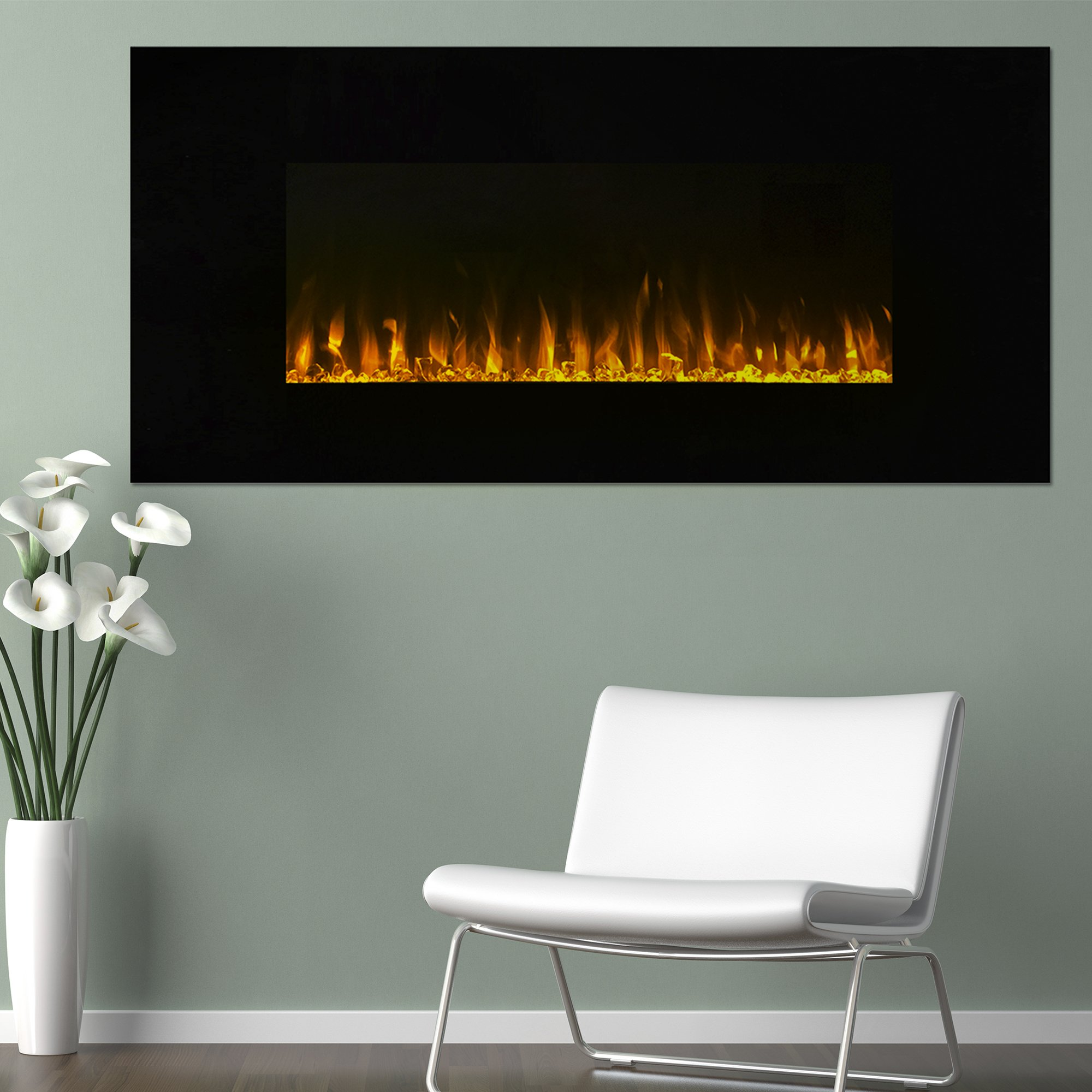 Electric Fireplace Wall Mounted, LED Fire and Ice Flame, With Remote 42 inch by Northwest by Northwest (Image #3)