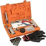 WYNNsky Heavy Duty Tire Repair Tools Kit - 61 Pcs Set Truck Tool Box for Motorcycle, ATV, Jeep, Truck, Tractor Flat Tire Plug Kit