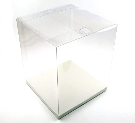 Paquetes de regalo transparente, 5 unidades, caja de regalo, caja ...