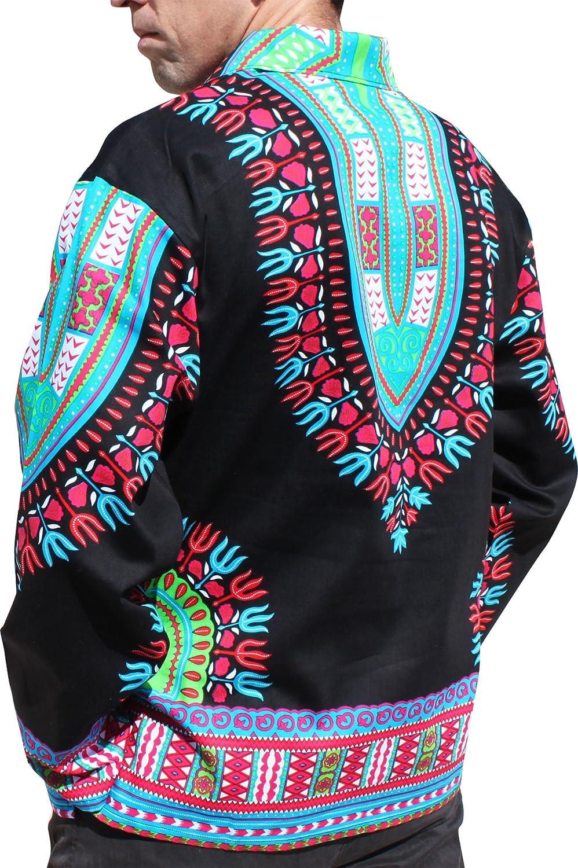 RaanPahMuang Brand European Poets Collar Long Sleeve Shirt African Dashiki Art variant23280AMZ