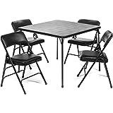 Amazon.com: Juego de 5 sillas de mesa plegables de la serie ...