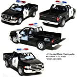 5 Dodge Ram Police Pickup Truck 1:44 Scale (Black/White) by Kinsmart