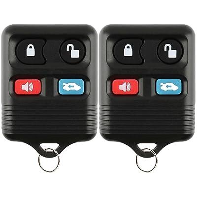 KeylessOption Keyless Entry Remote Car Key Fob for Ford Lincoln Mercury CWTWB1U345 (Pack of 2): Automotive