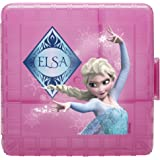 Zak! Designs GoPak Lunch Box Divided Food Storage Container with Elsa from Frozen, Break-resistant and BPA-free Plastic