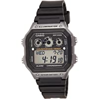 Casio AE-1300WH-8AV Black and Silver Youth Series Chronograph Digital Sports Watch