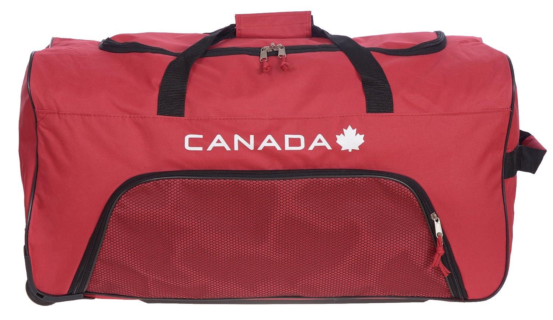 Canada 28 Large Wheeled Equipment Rolling Duffel Bag Black B0354_28_BLK