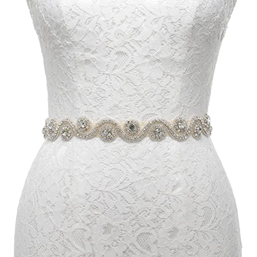 Amazon remedios bridal sash belt with diamond design for remedios bridal sash belt with diamond design for wedding dresses bridemaid bridechampagne solutioingenieria Choice Image
