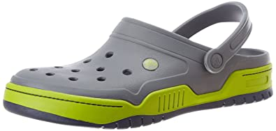 c33d07ed2 crocs Unisex Front Court Charcoal and Navy Clogs and Mules - M12 ...