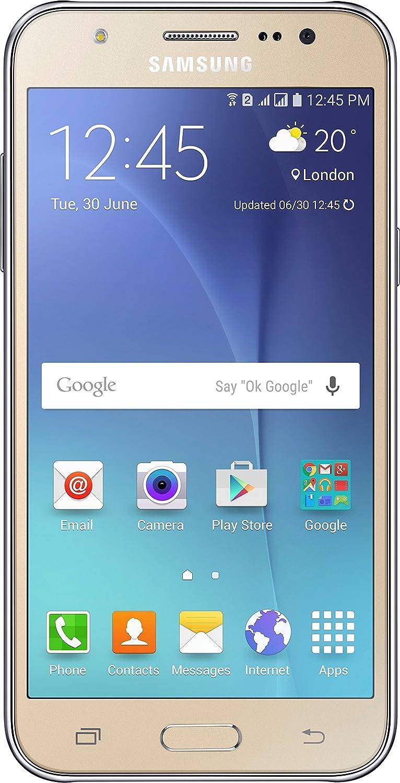 Samsung Galaxy J5 SSJ500MGD Factory Unlocked Dual Sim Smartphone - International Version (Gold)