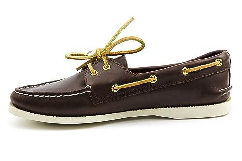 Dek - Náuticos de cuero para hombre, color marrón, talla 39.5