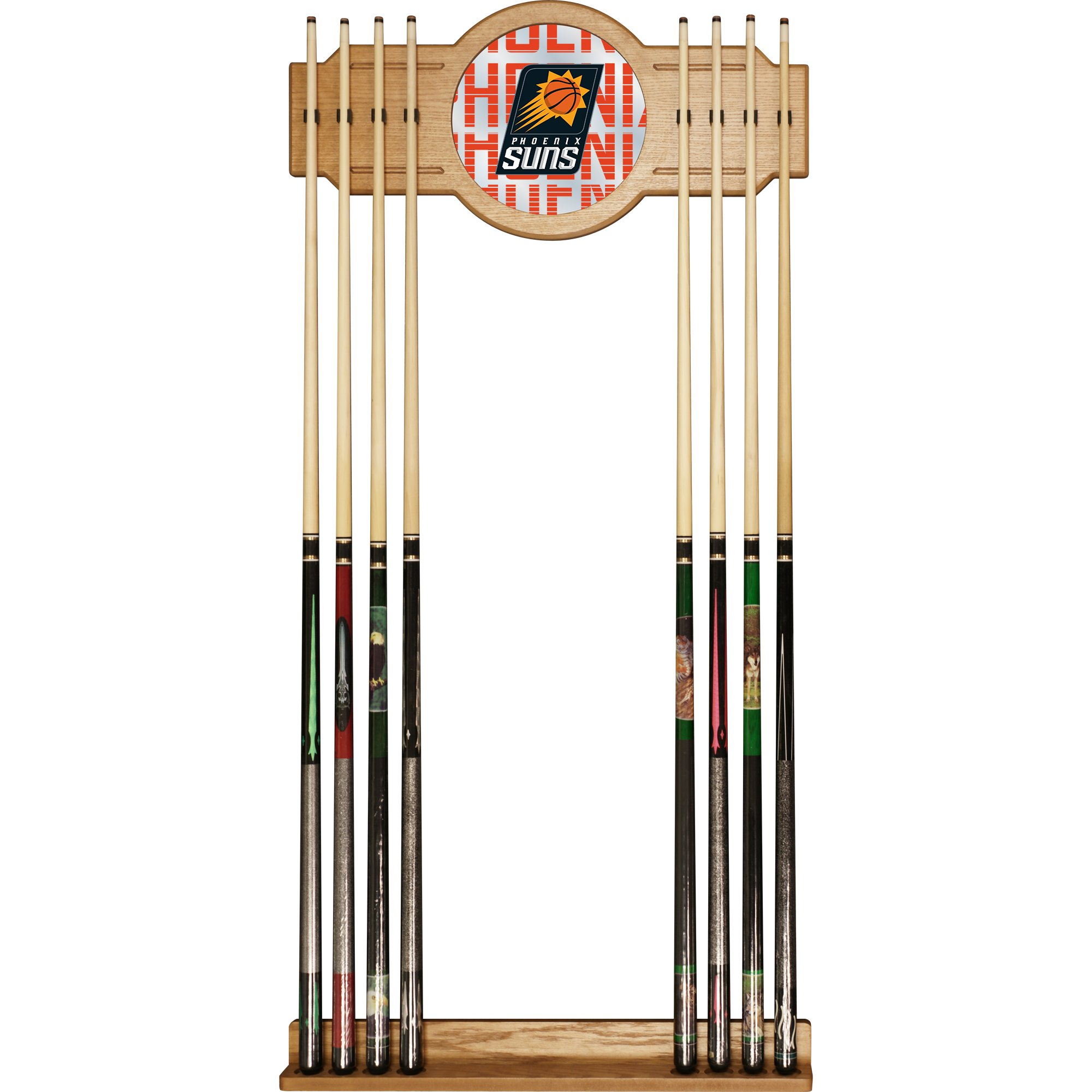Trademark Gameroom NBA6000-PS3 NBA Cue Rack with Mirror - City - Phoenix Suns by Trademark Global