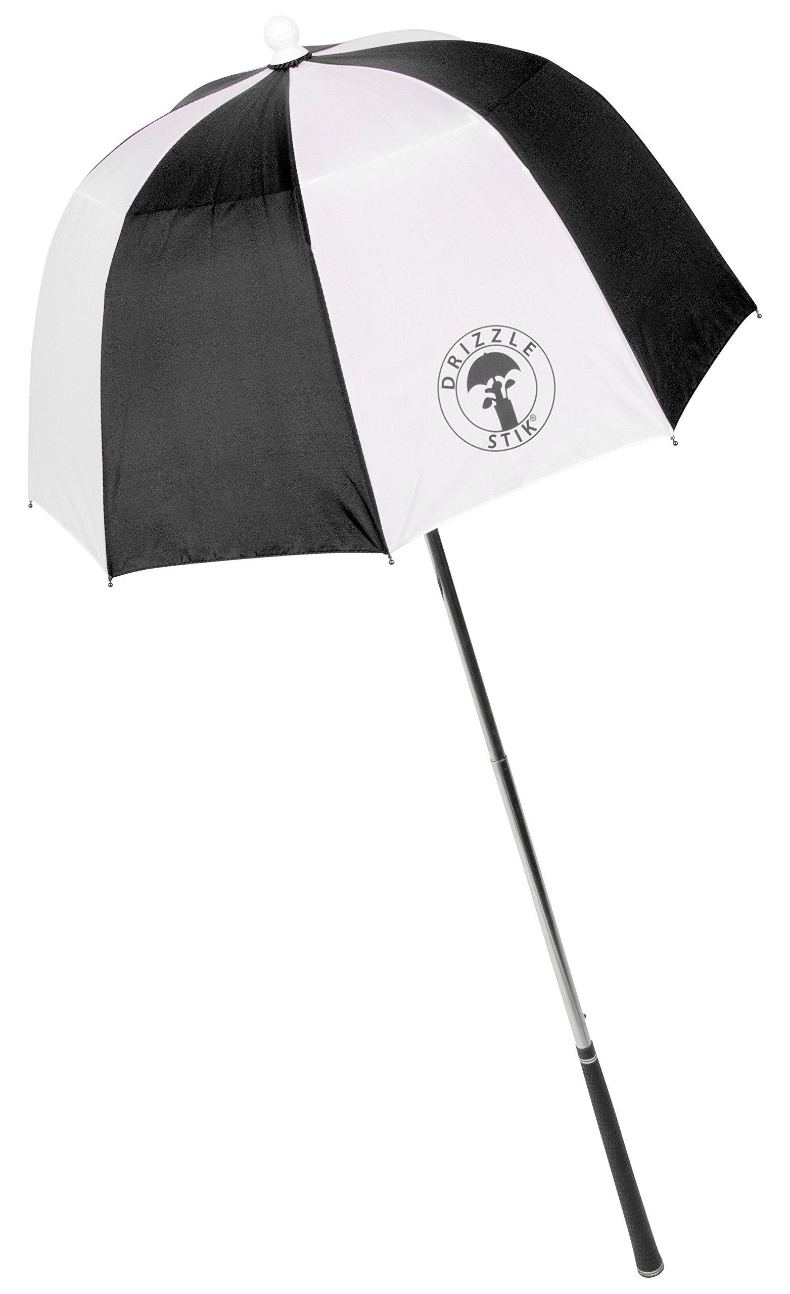 DrizzleStik Flex - Golf Club Umbrella (Black/White) by Drizzle Stik