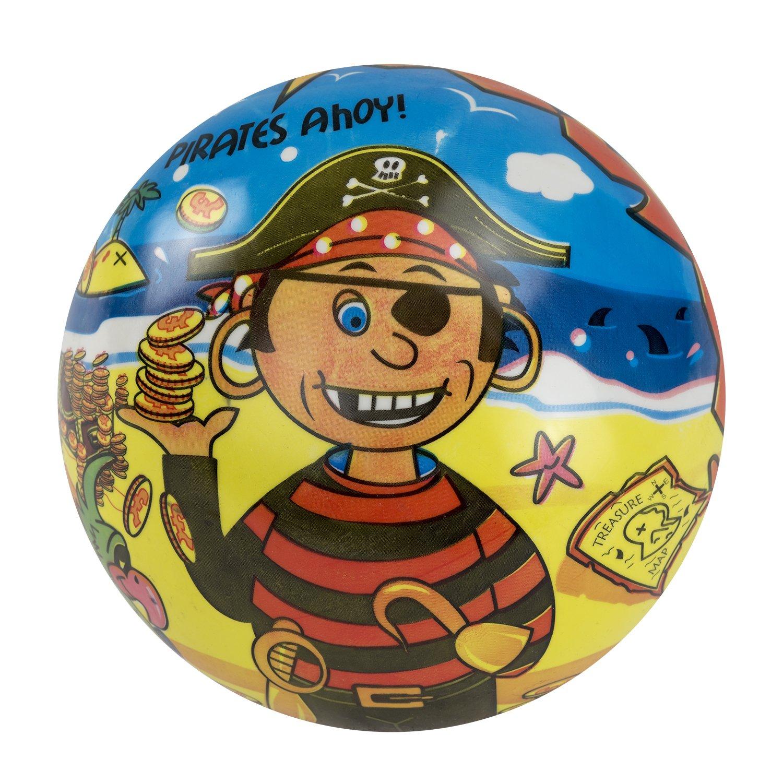 Piraten Strandbälle Gummibälle 100 Stück Piratenparty Wasserbälle 23cm Mitgebsel Gastgeschenke mit Palandi® Sticker