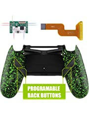 eXtremeRate Dawn Programable Remap Kit for PS4 Controller with Mod Chip & Redesigned Back Shell & 4 Back Buttons - Compatible with JDM 040/050/055