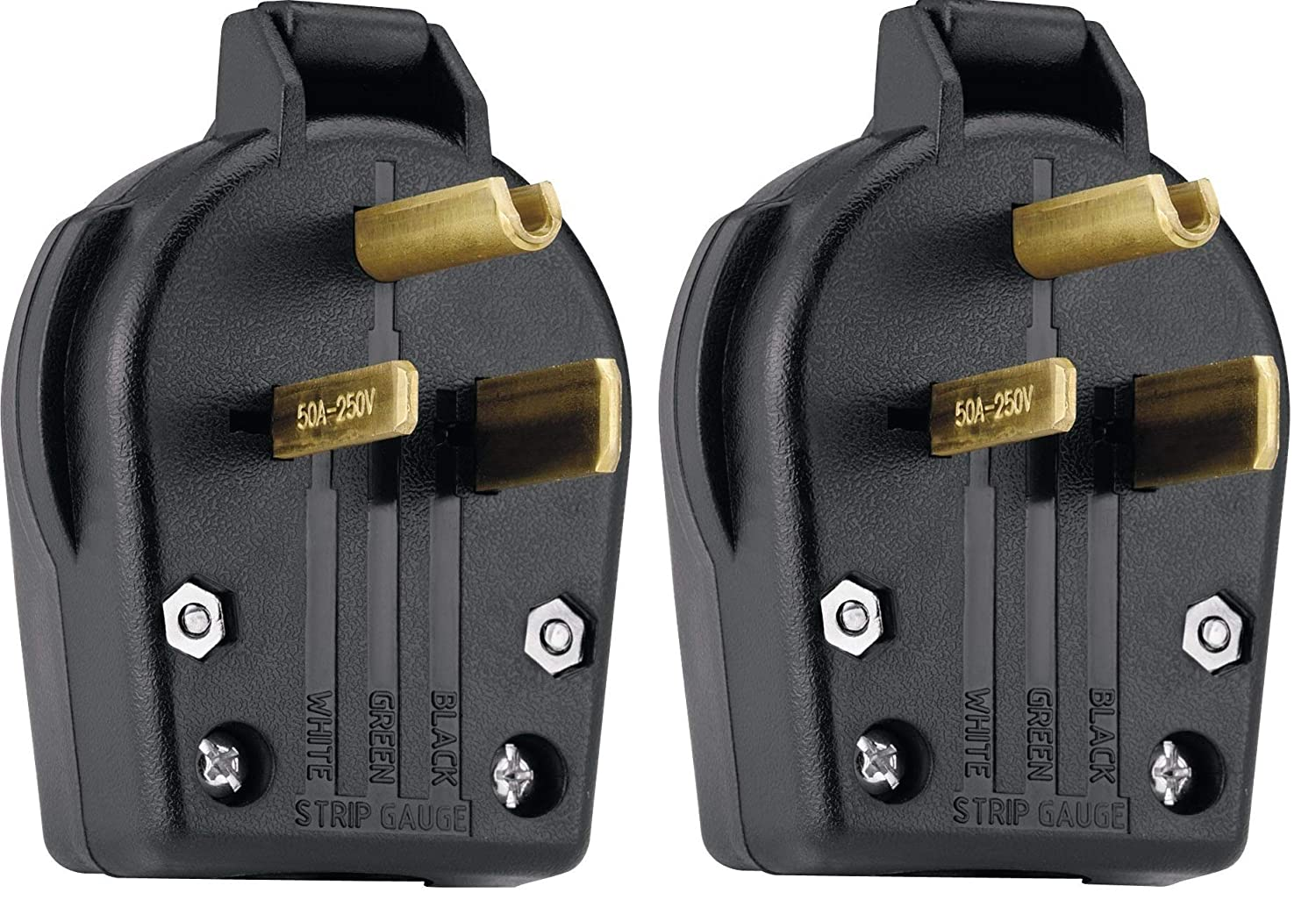 Eaton S42 Sp Commercial Grade Angle Vinyl Power Plug With 30 50 Amp Cooper Wiring Devices 20amp 125volt Yellow 3wire Grounding 250 Volt 6 Nema Rating Black Electric Plugs