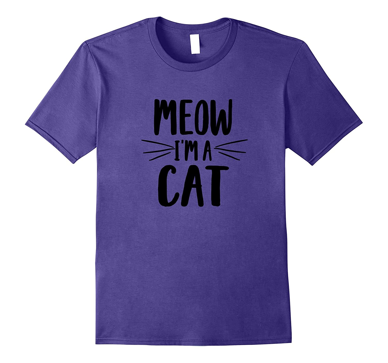 Meow I'm A Cat Costume T Shirt Halloween Cats Costume Tshirt-FL