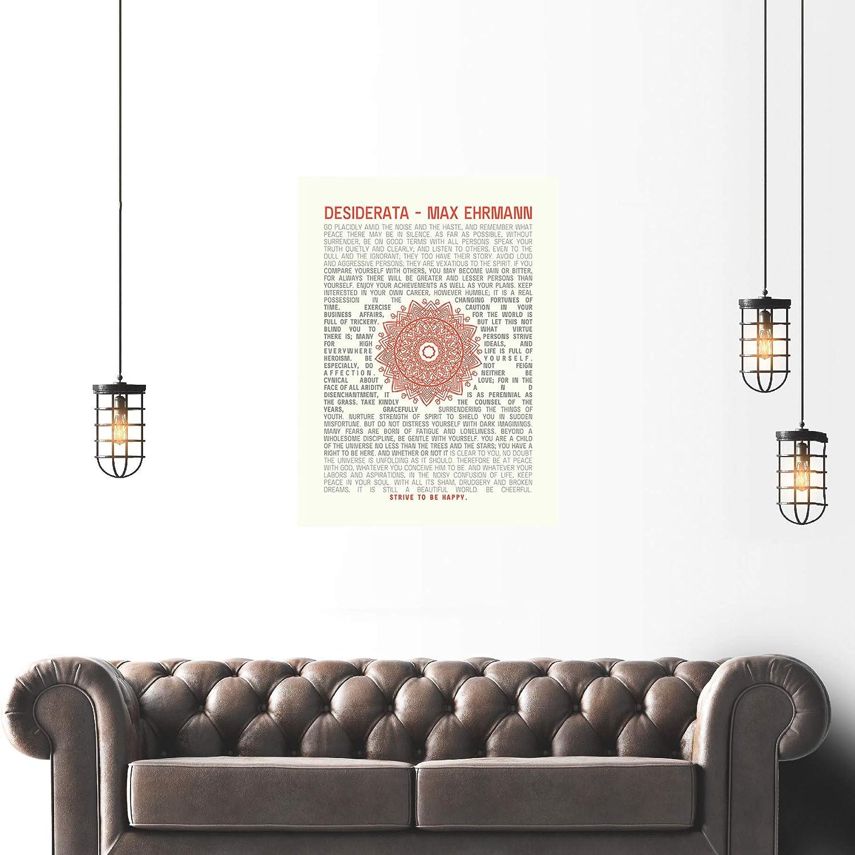 QUOTE DESIDERATA MANDALA EHRMANN TYPOGRAPHY INSPIRATION  ART POSTER PRINT LF3475