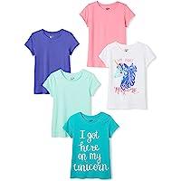 Spotted Zebra Short-Sleeve T-Shirts Niñas, Pack de 5