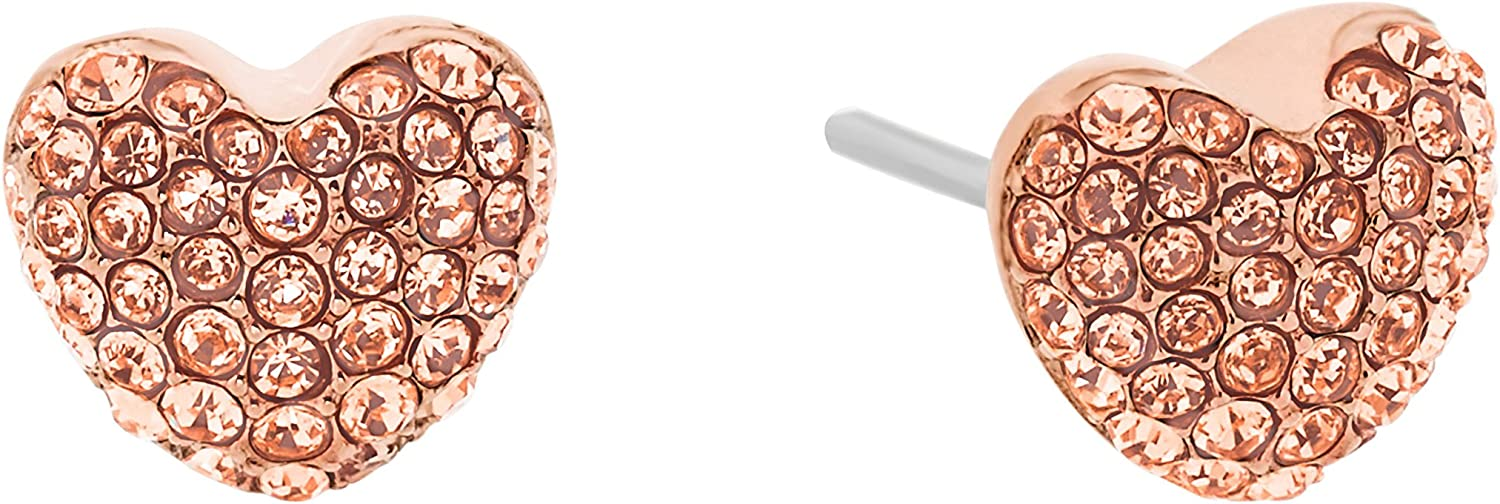 Michael Kors Brilliance Pave Hearts and Crystal Heart Stud Earrings