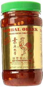 Huy Fong Sambal Oelek Ground Chili Paste - 8 oz x 2 bottles