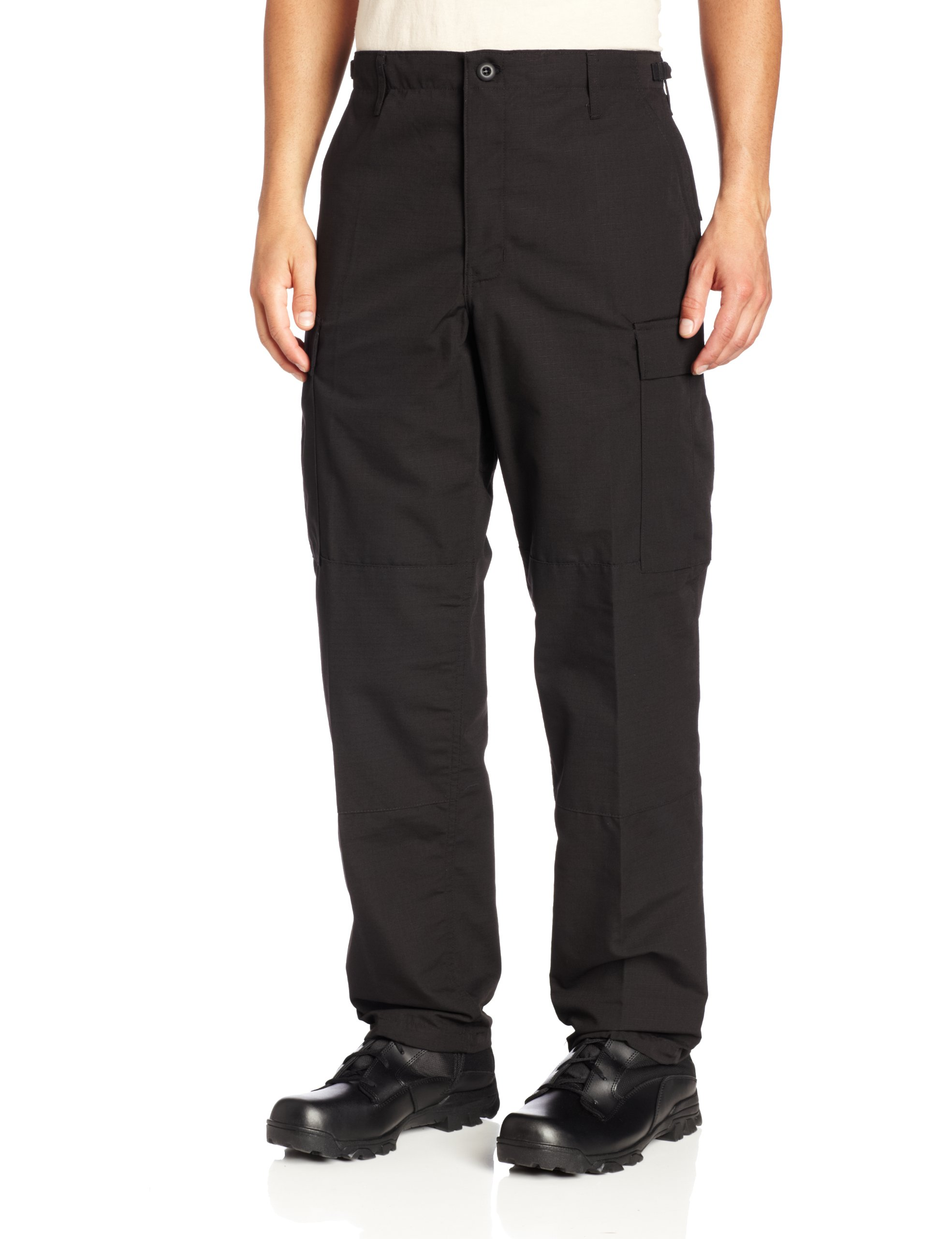 Propper Men's Zip Fly BDU Trouser, Black, Large Regular