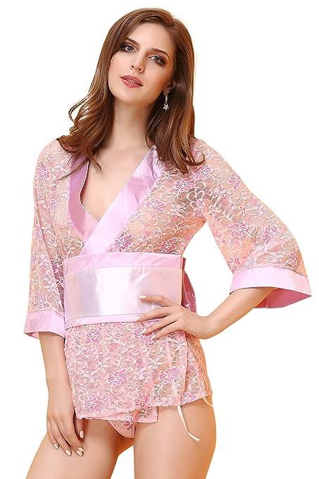 Ropa de la mujer, señoras encajes Pijamas Ropa interior traje de mucama, señoras
