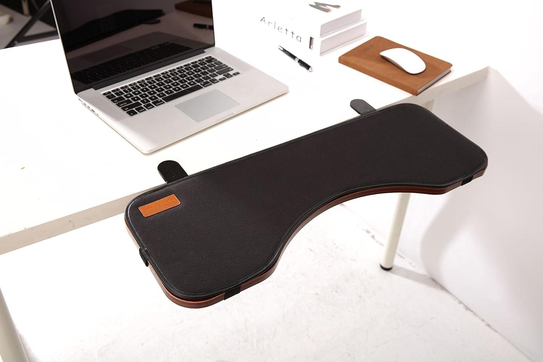 ERGONEER Tastiera ergonomica poggiapolsi Desk Extender per Aggiunto Typing Comfort - Tabella montato bracciolo basamento della mensola Elbow vassoio progettato per inclinare e ribaltare