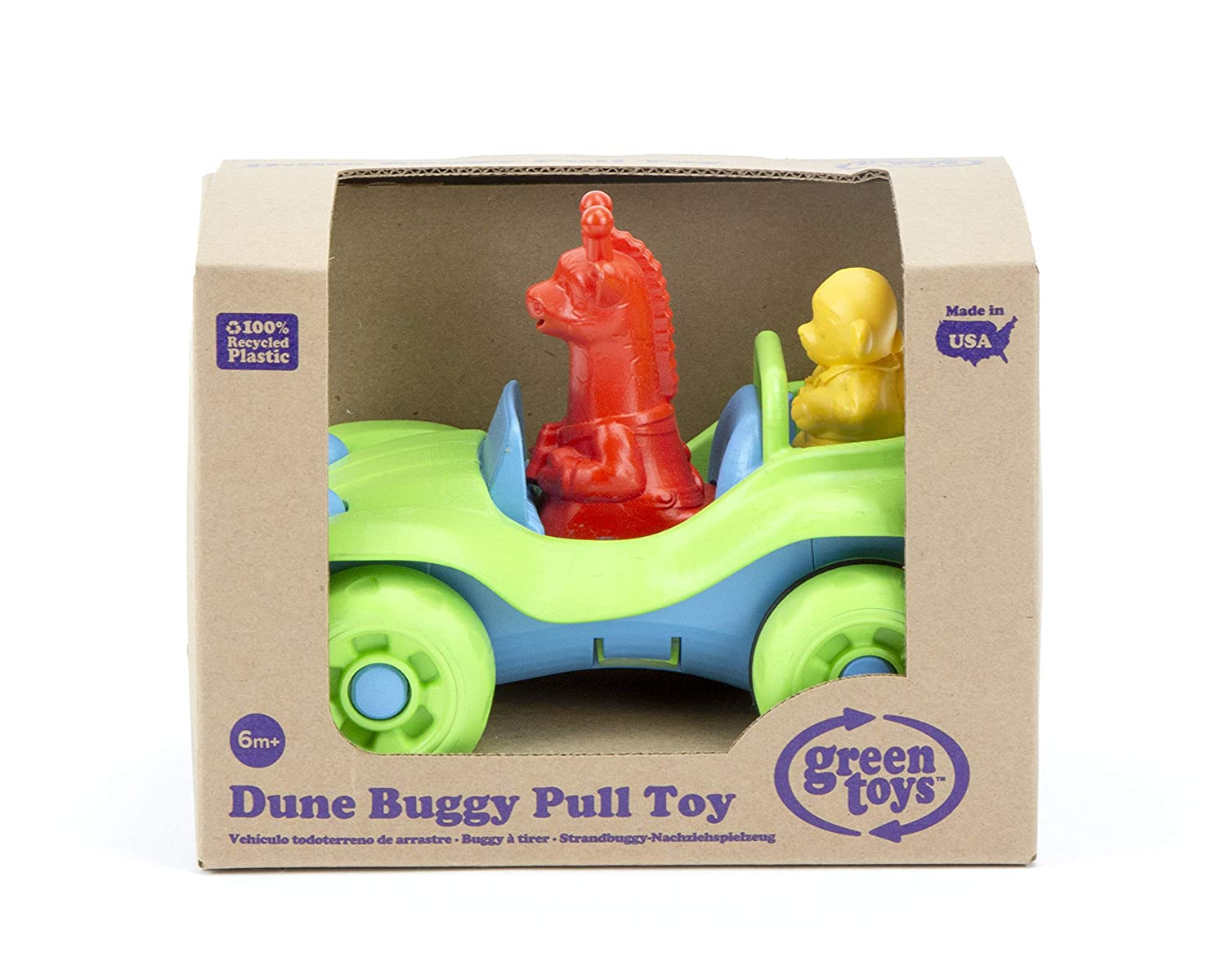 PTDB-1308 Green Toys Dune Buggy Pull Toy Inc