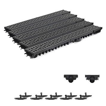 Heimwerker Baugewerbe Komplett Stegrost Kunststoff Entwässerungsrinne Für Modulares System 1m-10m