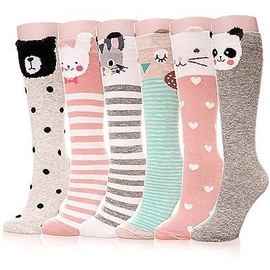 JT-Amigo Kids Children Girls Cotton Knee High Socks Assorted 8 Pairs Size: One Size